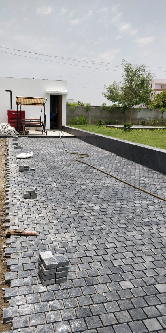 Gandhinagar Cobble Paving K K Stones Ahmedabad Gujarat India Export