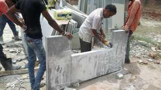Preparing Granite Benches 75mm thickness Ahmedabad Gujarat India Export (2)