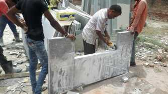 Preparing Granite Benches 75mm thickness Ahmedabad Gujarat India Export (2)